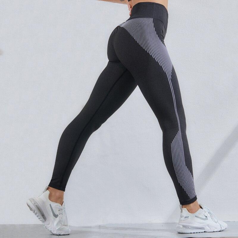 CHRLEISURE Sexy Seamless Bubble Butt Legging High Waist Women Fitness Legging Stretch Sports Leggings Gym Women Clothing