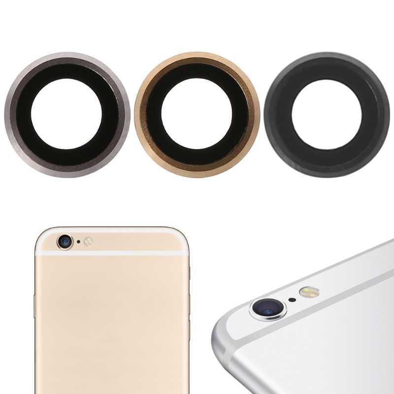 Telepon Kamera Belakang Kaca Penutup Lensa dengan Bingkai Logam untuk Dudukan iPhone 6 4.7 Inch