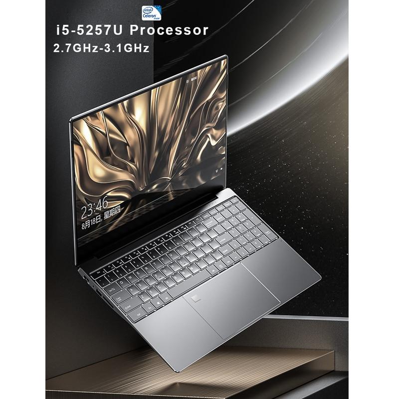 15,6-дюймовый игровой ноутбук i5, 8 ГБ/16 ГБ ОЗУ, ТБ/128 ГБ/256 ГБ/512 Гб SSD, ноутбук, компьютер, ноутбук, 4K IPS дисплей, Распознавание отпечатков пальцев
