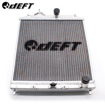 DEFT Aluminum Car Radiator Full Aluminum Racing Radiator For Honda Civic EK EG Del Sol Manual 92-00 D15 D16 52MM
