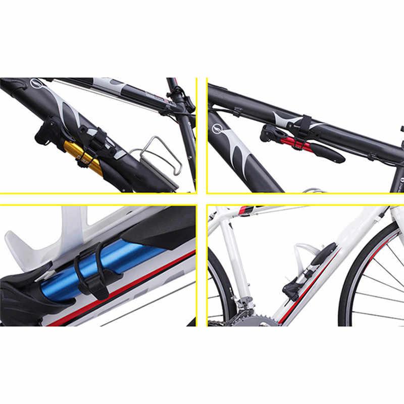 Uchwyt do montażu podwójne usta przenośny rower łatwa instalacja uchwyt do pompy rowerowej uchwyt do mocowania ramy Inflator nylonowy klips mocujący