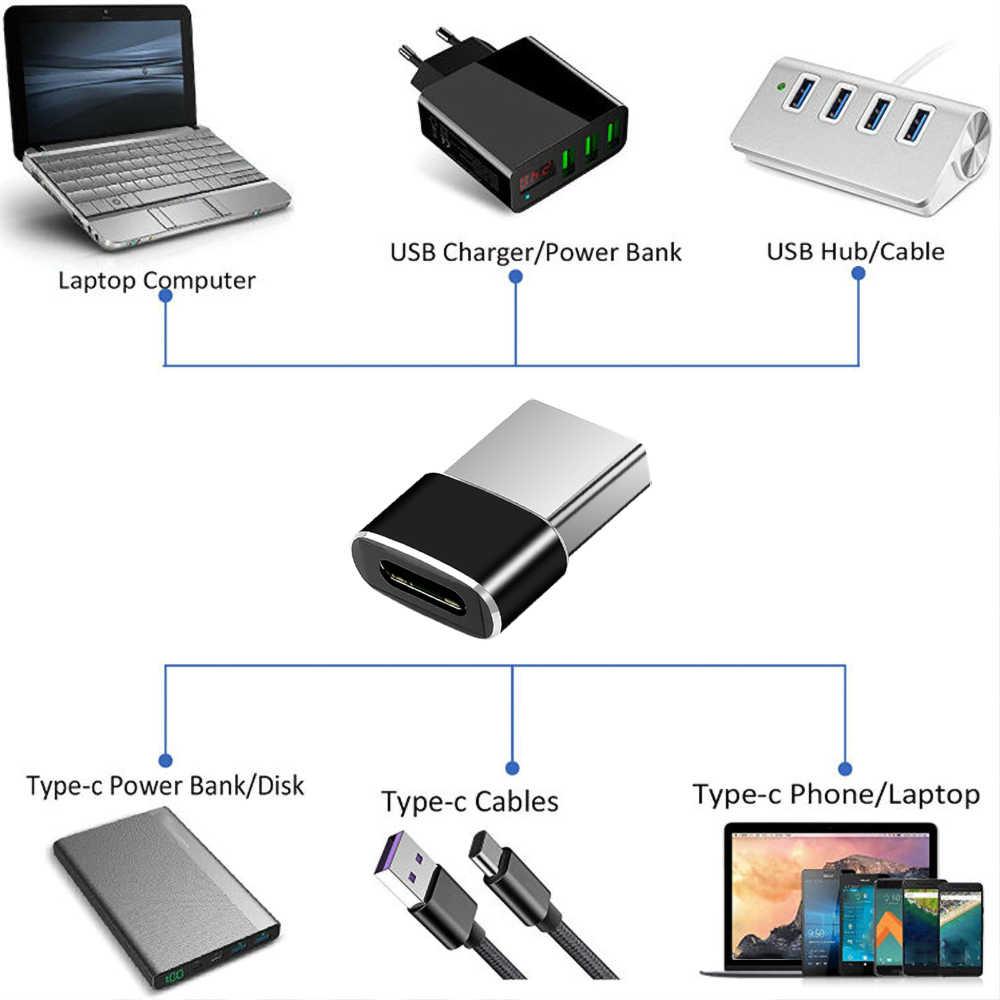 USB 3,1 tipo C hembra A Puerto USB macho adaptador tipo A conector adaptador de sincronización de datos conector para Macbook