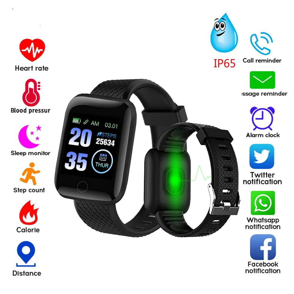 Congdi 116Plus Smart Watches D13 Heart Rate Fitness Tracker Watch Blood Pressure Measurement Pedometer Smart Band Men Women