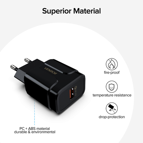 5V 3A Universal 18W USB Quick Charge 3.0 for Huawei Xiaomi EU US Wall Adapter Android Mobile Phone Fast Charger for Samsung S10 Islamabad
