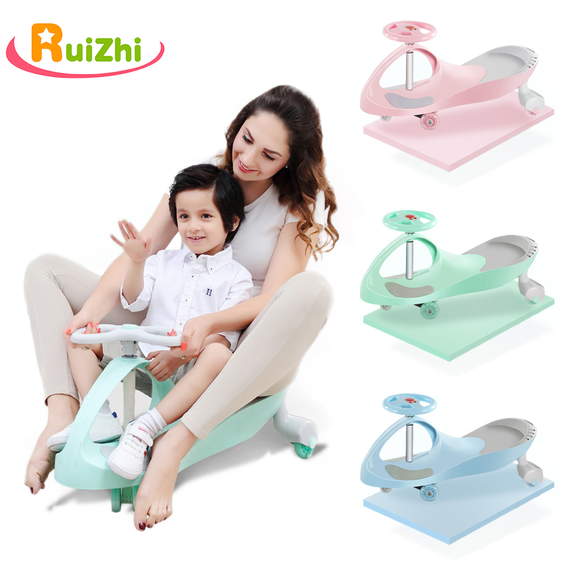 Ruizhi Children Twist Car Mute Round Universal Wheel Swing 1-3 Years Old Baby Car Outdoor Sports Kids Toys Boy Girl Gifts RZ1105