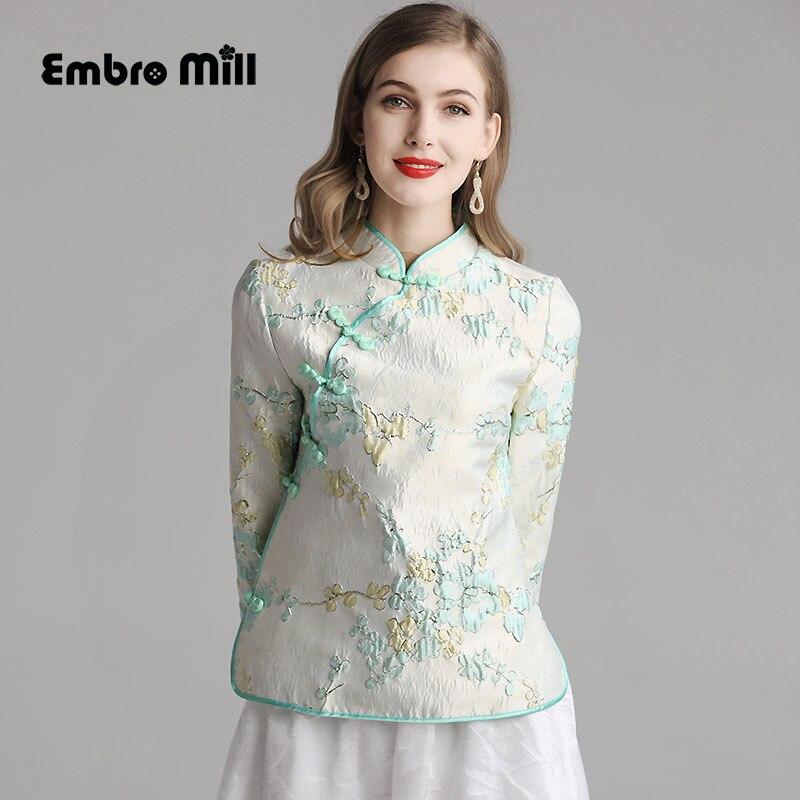 Le nouveau manteau de fleurs d'automne élégant style chinois rétro amélioration Hanfu élément confortable femmes manteau S-2XL