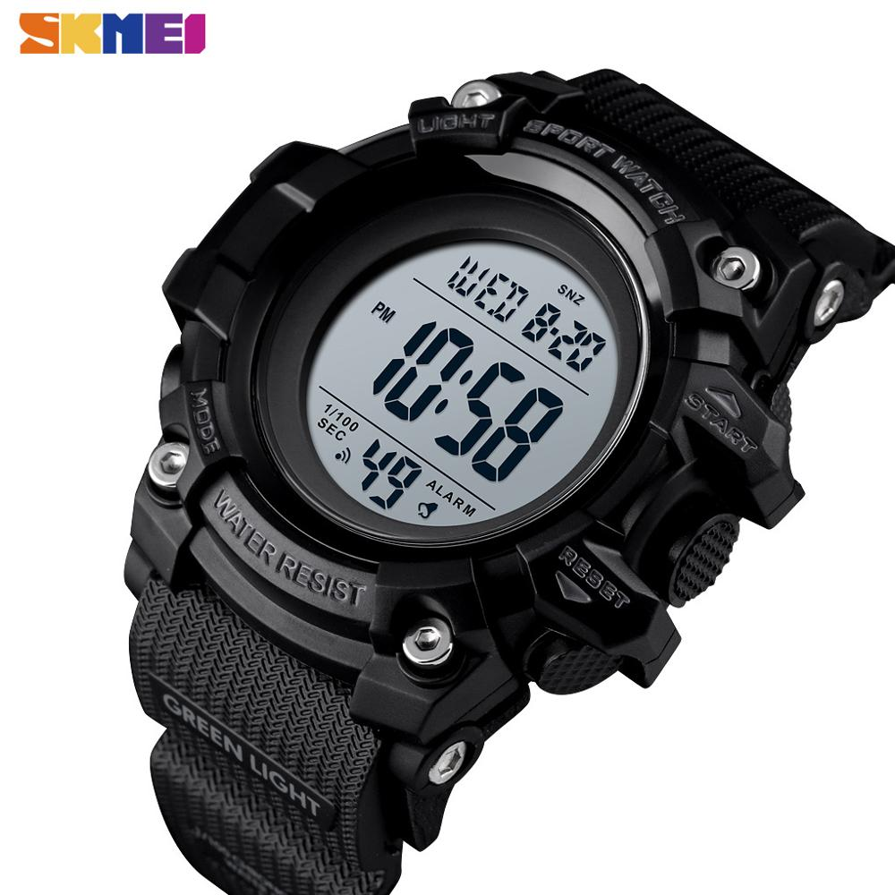 SKMEI Outdoor Sport Mens Watches Shock Protection Digital Wristwatch Men Chrono 2 Time PU Leather Alarm Clock Reloj 1552 Hour