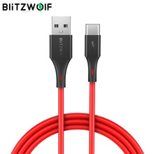 Blitzwolf 3A Usb Type-C Snel Opladen Data Kabel 3ft/0.9 M Voor Universele Mobiele Telefoon Usb Lader koord(China)
