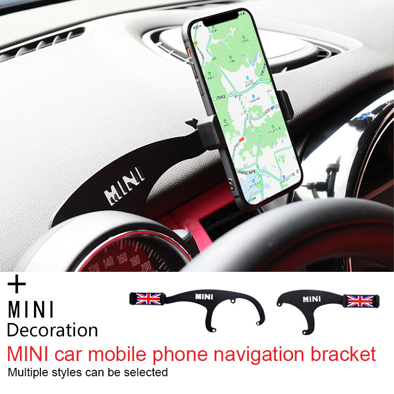 Car Mobile Phone GPS Holder Bracket Decorations for Mini Cooper Countryman F60 R56 R55 R60 F55 F54 F56 Accessories Car Styling