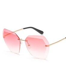 Car Driving Classic Polarized Sunglasses Men Women Polygon Frameless Trimming Personalized Transparent Glasses UV400