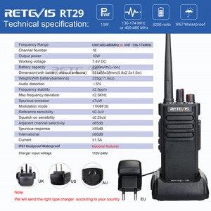 Image 5 - Potente Walkie Talkie IP67 Impermeabile RETEVIS RT29 2PCS UHF/VHF Lungo Raggio Radio A due vie Ricetrasmettitore per farm Magazzino Della Fabbrica