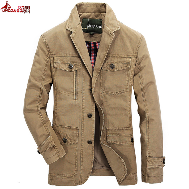 Spring Autumn Men`s Cotton Casual Jacket Outwear Military Suit Coats Male Casaco Masculino Plus Size 4xl 5xl Blazer Army Jacket