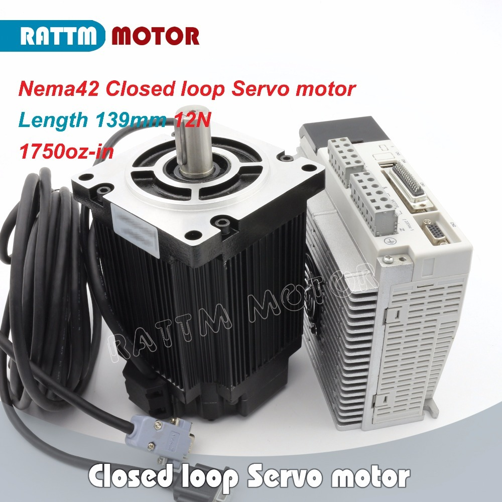 Nema42 Closed loop Servo <font><b>motor</b></font> 12N.m 1750oz-in 3-Phase <font><b>110</b></font> Hybrid stepper <font><b>motor</b></font> & 3HS Step-servo Driver CNC Controller image