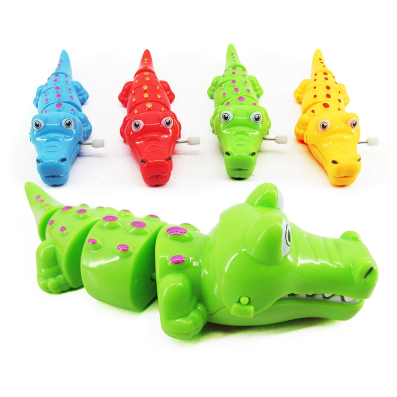 Cross Border Children Creative Wind-up Toy Cartoon Animal Winding Crocodile Chain Small Commodity Gift Stall Wholesale