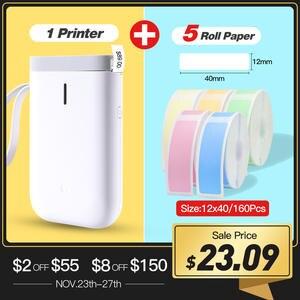 Беспроводной принтер для этикеток D11, портативный карманный принтер для этикеток, портативный термопринтер для этикеток BT, быстрая печать, ...