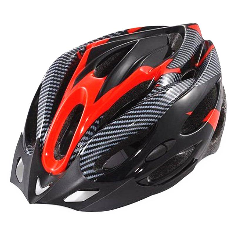 Kuulee Generic Cycling Bicycle Adult Bike Safe Helmet Carbon Hat 19 Holes Red