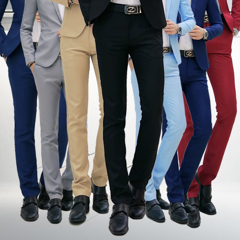 MEN'S Suit Pants Spring And Summer Thin Slim Women's Youth Business Korean-style Casual Business Suit Pants Going To Work Formal