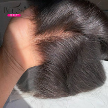 Closures Lace-Frontal Human-Hair 5x5 Transparent Straight with Baby Remy Melt-Skins Invisible