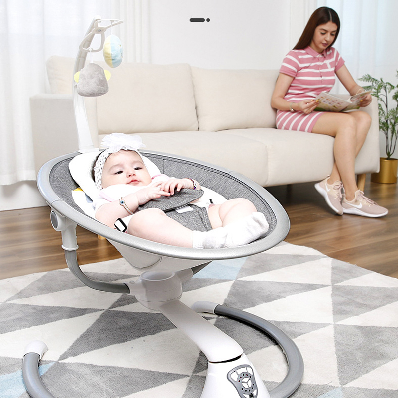 Electric Baby Rocking Chair 0-3 Baby Safety Cradle Rocking Chair Soothing Baby's Artifact Sleeps Newborn Sleeping Free Shipping