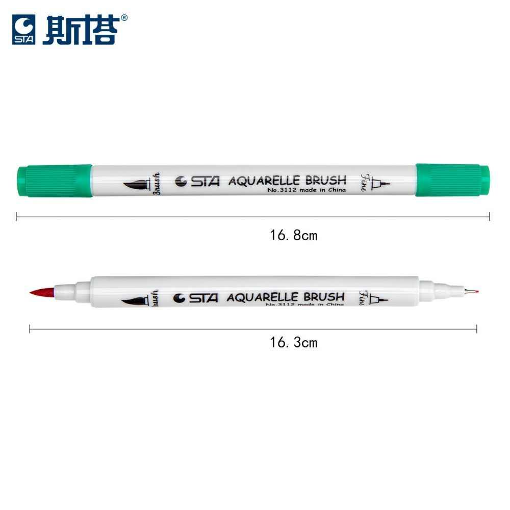 12/24/36/48/80 couleurs pinceau stylo alcool encre marqueur double conseils Art marqueurs aquarelle pinceau stylo marqueur Set Fineliner pour dessin