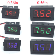 Mini Digital Voltmeter Tester DC 4.5V to 30V 2-Wire Mini LED Display Voltage Meter for Testing Car Motorcycle Battery Car(China)