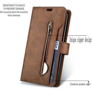 Image 2 - Luxury Zipper Flip Case Solid Leather for Xiaomi Mi 9 Lite Case Mi 9Lite Card Slot for Funda Xiaomi Mi9 Lite 9 SE Wallet Cover