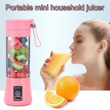 Kitchen Gadgets 380ml Mini Home Juicer Electric Juicer Cup Multifunction Juicer Portable Small Rechargeable Juice Cup juicers juicer mini electric small home portable student juice machine juicing cup