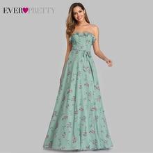 Robe De Soiree Ever красивое пляжное платье EP07242 элегантное ТРАПЕЦИЕВИДНОЕ вечернее платье с цветочным принтом длинное летнее платье в стиле бохо vestido de festa
