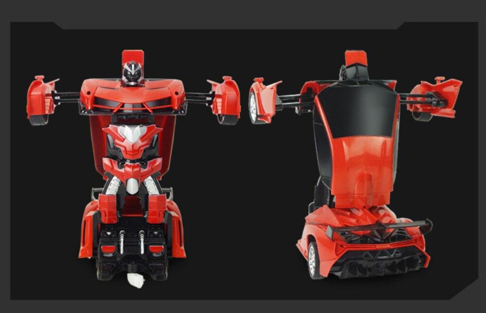 carro esportivo modelo robô brinquedo uma rotação