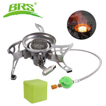 BRS Camping Gas Stove Portable Split Collapsible Windproof Hiking Cooking Burners Foldable Outdoor Cookware for Travel Climbing