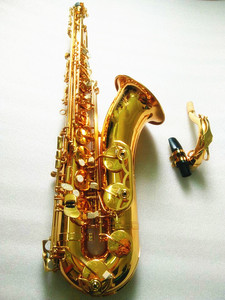 Image 3 - Saxofón Tenor instrumentos musicales saxofón Tenor profesional saxofón laca de oro Cañas cuello y funda
