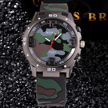 Camouflage Military Children Watch Silicone Soft Boy Gifts Army Green K