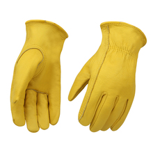 Cheap Work Gloves Leather Gardening Motorcycle Cowhide Grain Leather Safety Working Glove Men&Women Olson Deepak