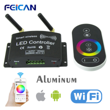 Wifi LED RGB Controller Remote Control DC12-24V RF Touch Controller 3Channel By Android/IOS APP For SMD5050 3528 RGB LED Strip