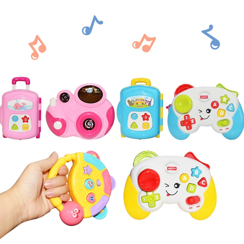 Baby Toddler Sound Toys 6 To 12 Months Musical Camera And Luggage Sensory Toy For Boys Girls Birthday Musical Toy Gifts