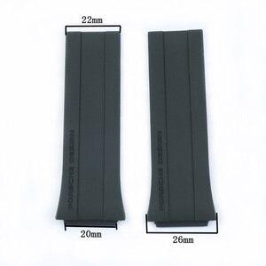 Image 2 - Mens Rubber Soft Strap For Porsche Design P6780 Watch Series Womens Silicone Sports Waterproof Strap Watch Accessories