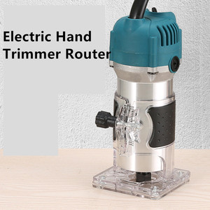 800W Electric Hand Trimmer Router Wood Carving Machine With Carrying Case Woodworking Wood Milling Slotting Machine Power Tools(China)