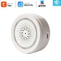 Haozee 3 In 1 Wifi Sirene Alarm Verknüpfung Mit Temperatur Feuchtigkeit Sensor Tuya Smart Leben Alexa Google Home IFTT