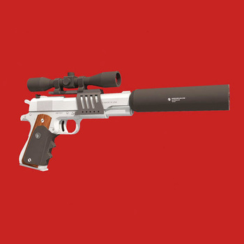1:1 Scale Gun Paper Model Colt M1911 Pistol DIY 3D Paper Card Model Building Sets Construction Toys Military Model Fan Gift 1