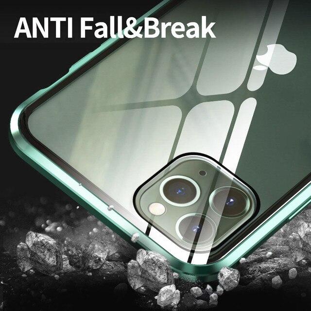 KISSCASE magnétique intimité étui en verre pour iPhone 11 XR XS étui Anti-espion 360 aimant de protection étui pour iPhone 11 Pro 6S 7 8 couverture 4