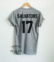 Salvatore 17 T-Shirts Vampire Diaries Shirt Damon Stefan Unisex  Gift Tees Short Sleeve 100% Cotton Man Tee Tops