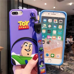 Чехол с объемным рисунком аниме История игрушек Базз Лайтер для iphone 11 pro X Xs MAX 6 s 7 8 plus милый мягкий силиконовый чехол с тремя глазами инопланетянин