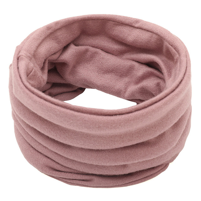 Sleeper #P501 2019 FASHION Unisex Solid Color Neck Warmer Fleece Knitted Scarf Scarves for boy girls Shawl Cowl шарф winter 6
