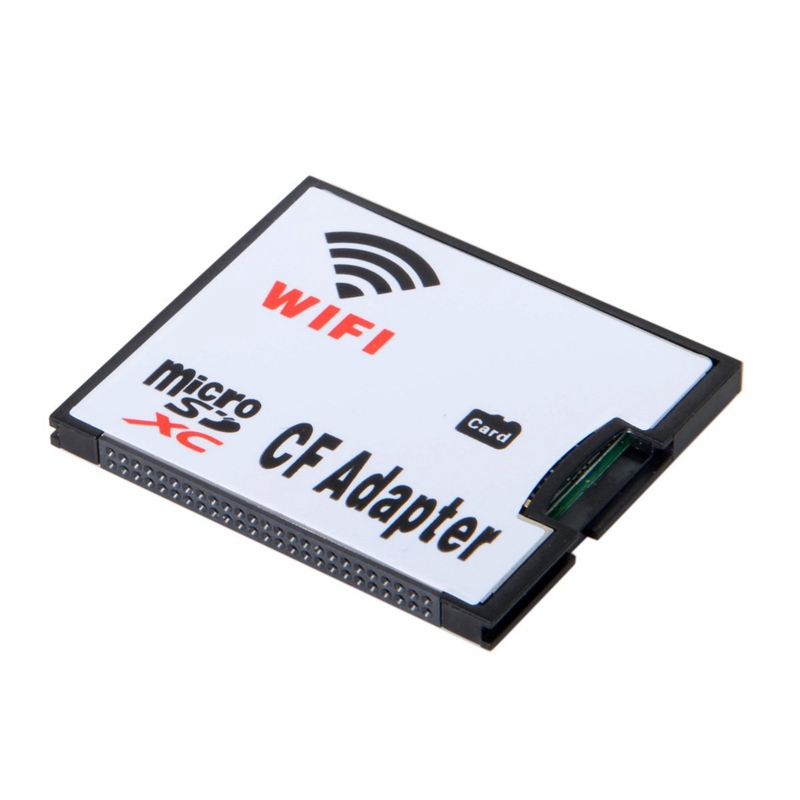 WIFI Adapter Memory Card TF Micro-SD To CF Compact Flash Card Kit For Digital Camera