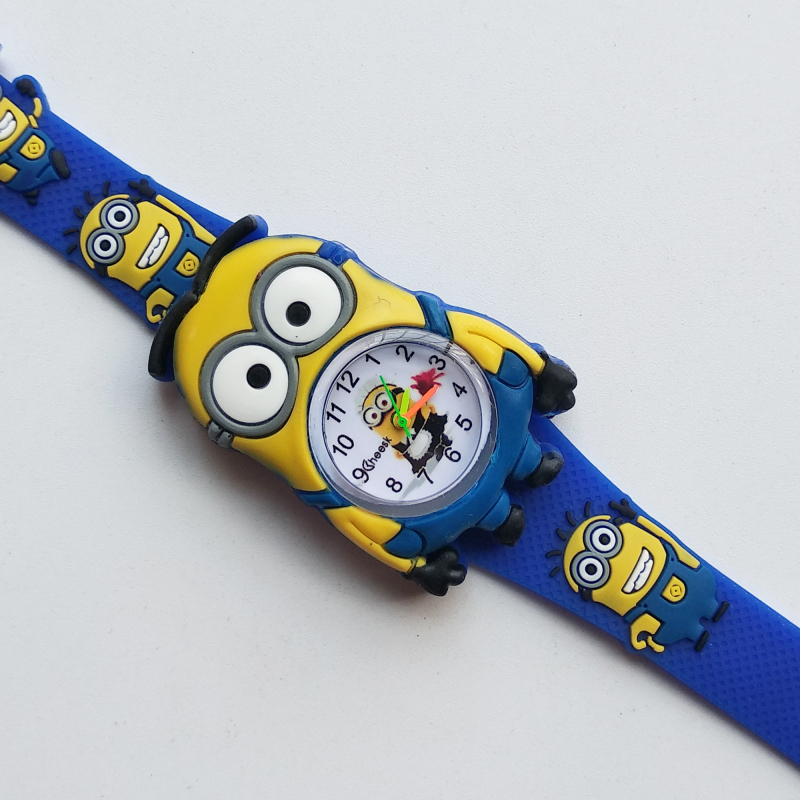 2019 New Despicable Me Little Yellow Man Watches For Children Kids Watch Leather Quartz Wristwatches Baby Boy Girl Student Clock