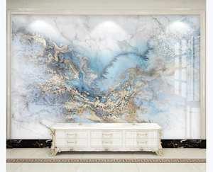 Light Wallpaper Mural Blue Tv-Background-Wall Microcrystalline-Tile Marble-Pattern Seamless