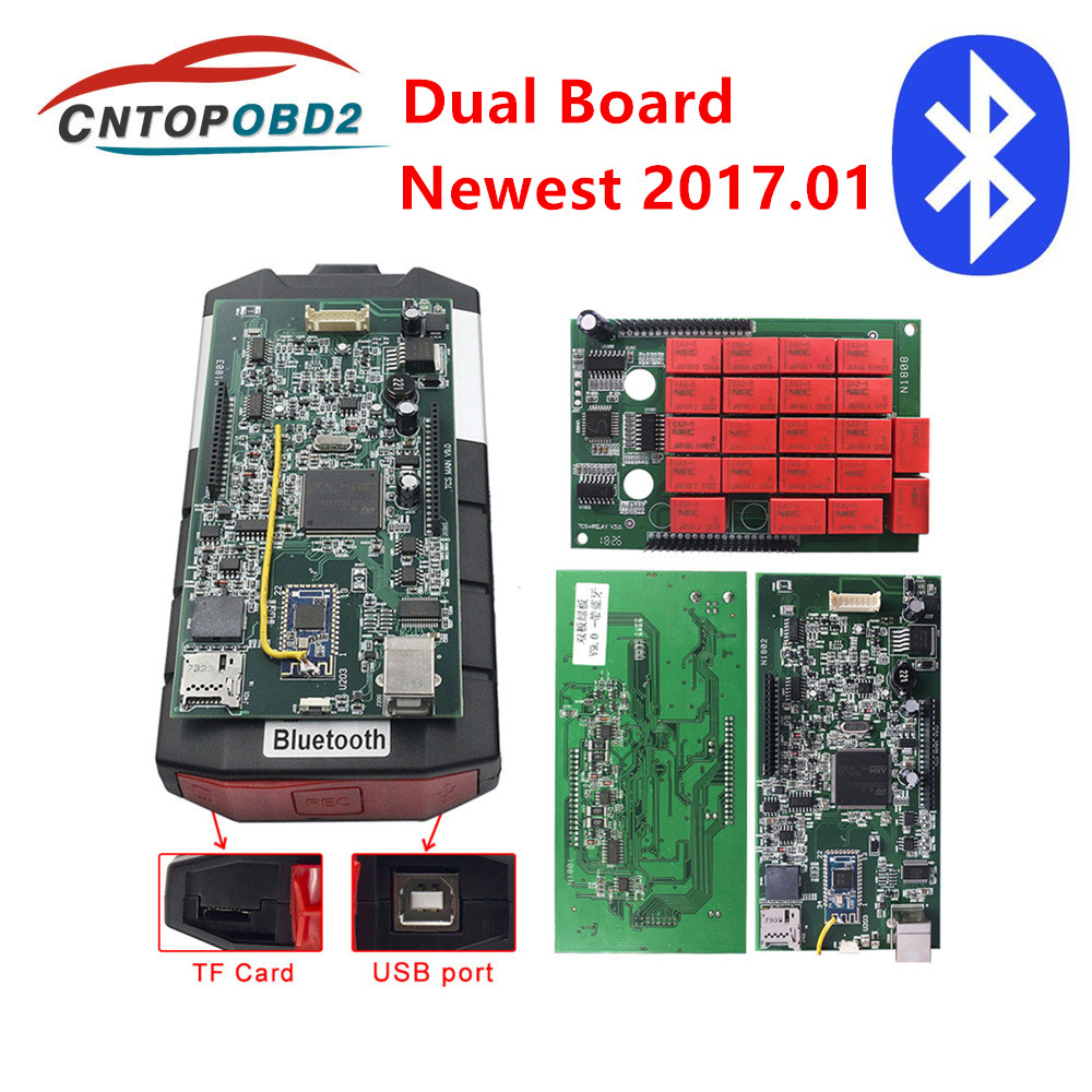Real V9 0 Multidiag Double Board With Bluetooth Car Truck Diagnostic Tool TCS 2016 0 Newest  2015 3 Keygen Software with Cables
