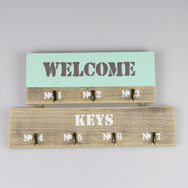 Hook Wall Hook Keys Holder Wall Home Keyboard Receipt Key Box Shelf Key Box Jewelry Shelf Wall Hanging Wooden Hook