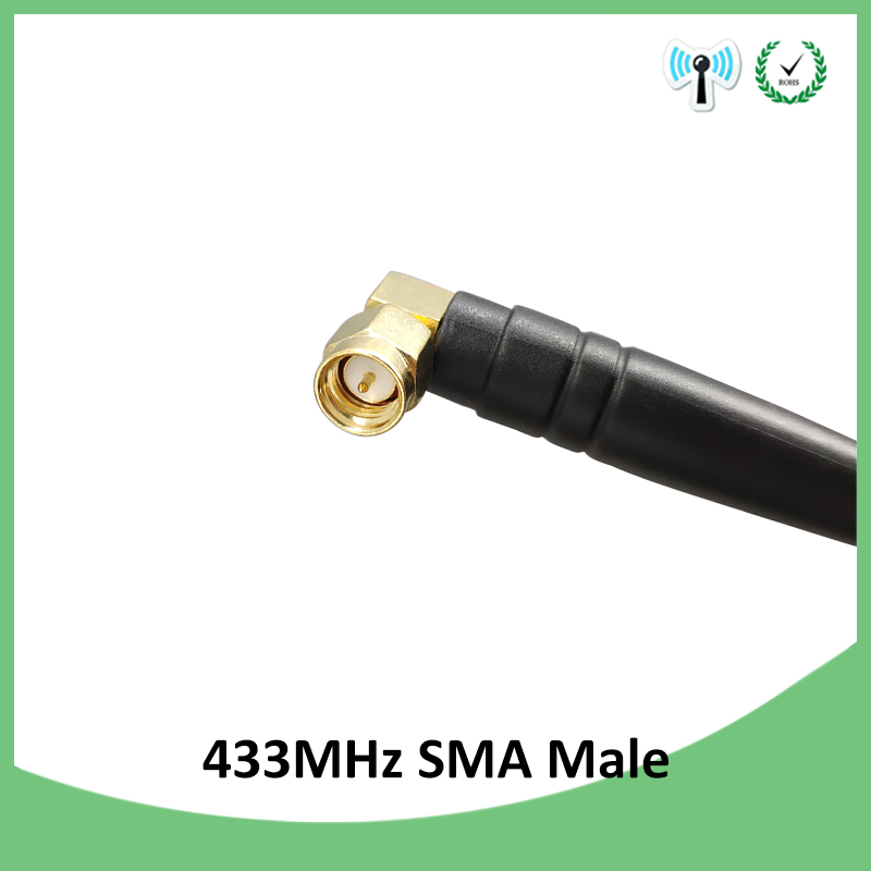 10pcs 433Mhz Antenna 3dbi SMA Male Connector Waterproof 433 MHz Directional Antena Rubber Aerial Wireless Repeater Lorawan in Antennas for Communications from Cellphones Telecommunications