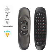 C120 Fly Air Mouse Mini 2.4GHz Wireless Keyboard Russian/English Handheld Remote Control with Gyroscope for Smart TV BOX/Mini PC